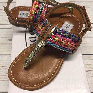 Steve Madden slip on sandals shoes toddler size 8M
